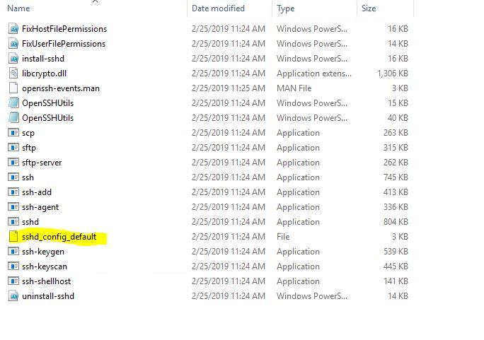 OpenSSH-InstallFolder